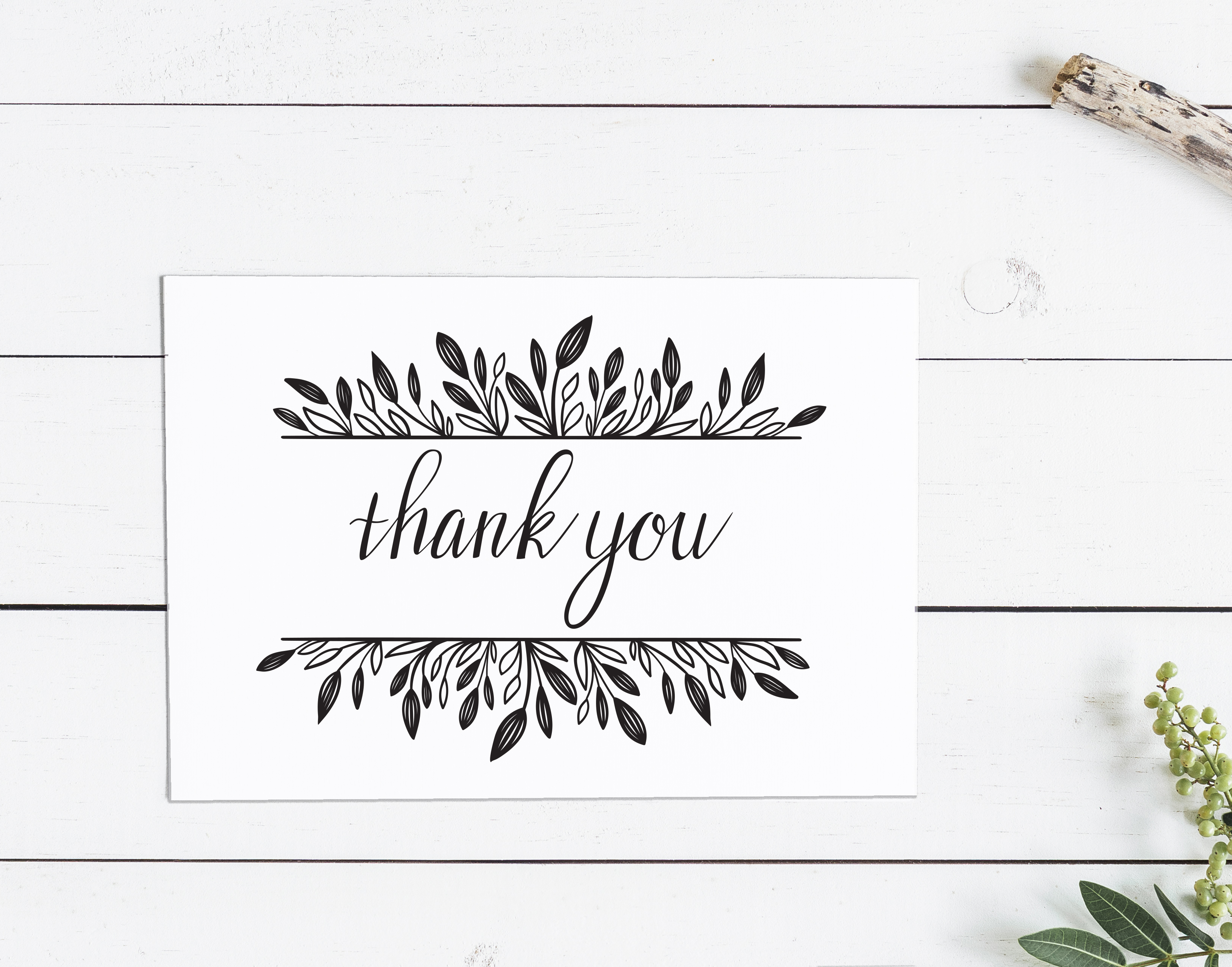 carte de remerciement