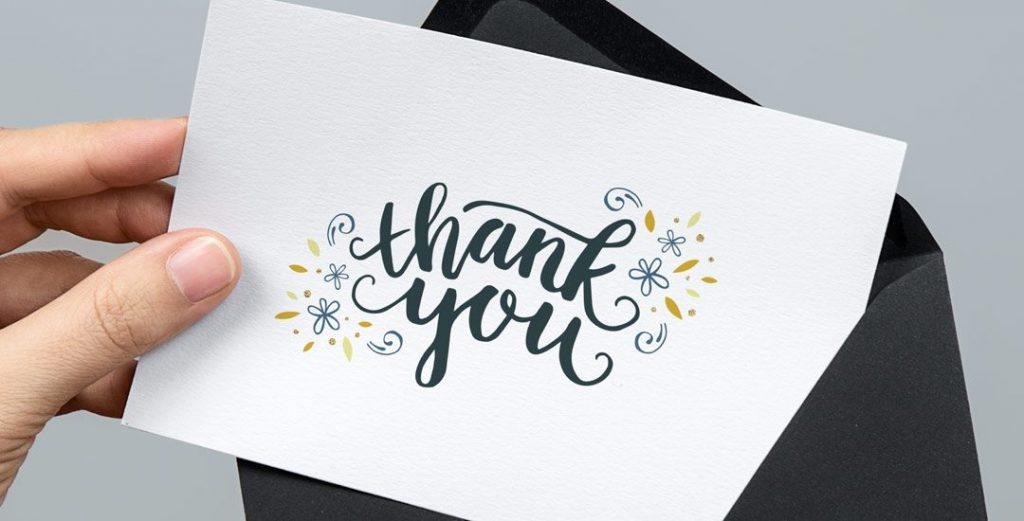Comment concevoir une carte de remerciement de qualité ?